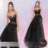 .:FlowerDreams:.Amanda - black applier gown