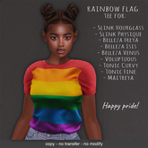 LeMomo: Rainbow Flag Tee - Happy Pride!