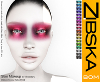 Zibska BOM Pack ~ Stim Makeup in 18 colors with tattoo and universal tattoo BOM layers