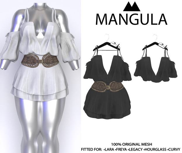 Mangula HUD [Unpack] Olivia Drees & Bluse Black [Gift]