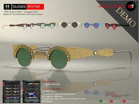 A&D Clothing - Glasses -Sputnik-  DEMOs