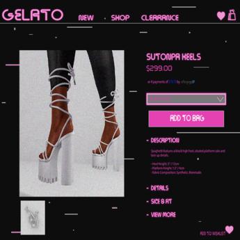 Gelato - Sutonpa Heels - WHITE