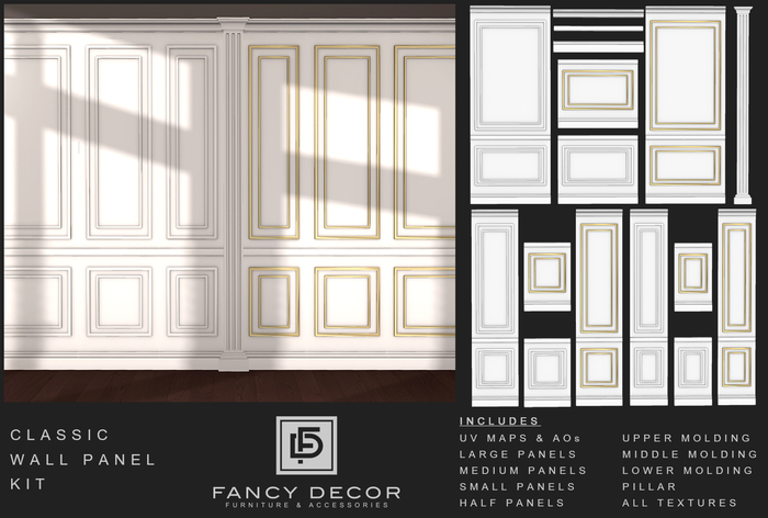 Fancy Decor: Classic Wall Panel Kit (add me)