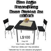 Miss Ing's DT Retro Kitchen Set  Black