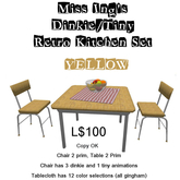 Miss Ing's DT Retro Kitchen Set Yellow