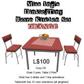 Miss Ing's DT Retro Kitchen Set Orange