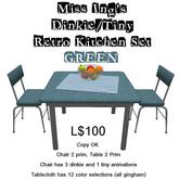 Miss Ing's DT Retro Kitchen Set Green