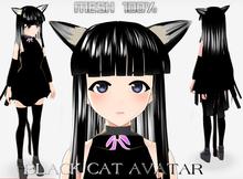 NEKO BLACK CAT AVATAR MESH COMPLETE
