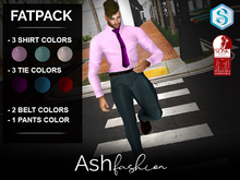 ASH Fashion: FATPACK: Men's suit formal: signature, slink.