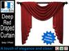 PB - Draped Curtain - Deep Red. Elegant!