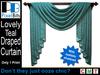PB - Draped Curtain - Teal. Classy!
