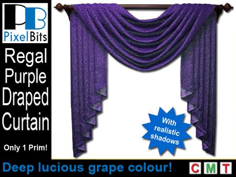 PB - Draped Curtain - Purple. Regal!