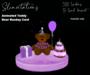Slinvitations Animated Grape Happy Rezday Bear Card