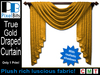 PB - Draped Curtain - True Gold. Lovely!