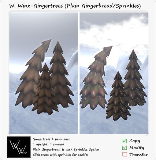 W. Winx-Gingertrees (Plain/Sprinkles)