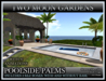 TMG - POOLSIDE PALMS* Swimming pool for houses. 2 REZ BOXES with and without a base -95 animations