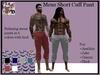 Mens Short Cuff Pant (ADD ME)