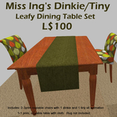 Miss Ing's DT Leafy Dining Set Boxed