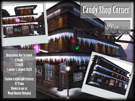 DLS~ Buildings - Candy Shop Corner Building (RETIRED)