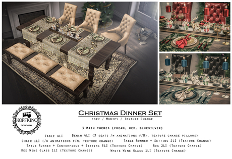 KOPFKINO - Christmas Dinner Set