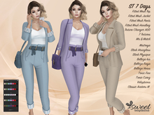 PROMO - ST :: 7 Days Outfit for Maitreya Lara, Slink (P, H), Belleza (V, I, F), Tonic (C, F) and Voluptuous. 7 Text HUD