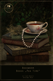 "KOPFKINO - Bookworm ""Tea Time"" Books Decoration"