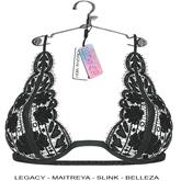 "Elegance Boutique -Lace Bra  - Black - "" Aphrodite"" - Legacy / Maitreya /Slink / Belleza"