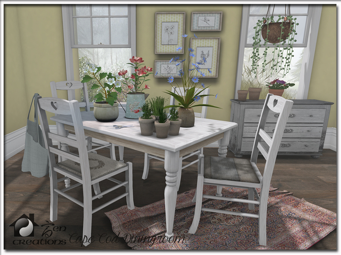 Cape Cod Color Change Diningroom