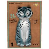 KittyCatS Box - Tiger! - Dusky Blue . 9T. fluffy head - COLLECTIBL !