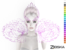 Zibska ~ Xenia Color Change Headpiece, Brows and Collar