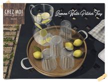 Lemon Water Pitcher Tray ♥  CHEZ MOI