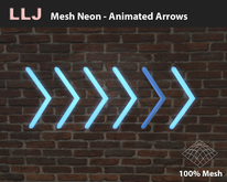 LLJ Mesh Neon Animated Arrows