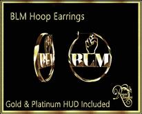 RJ BLM Hoop Earrings Boxed