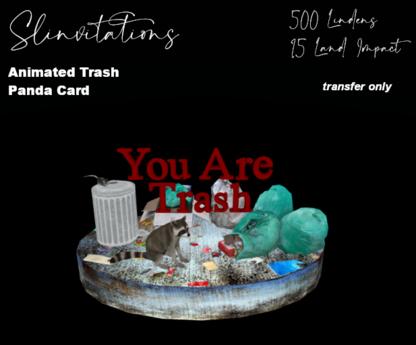 Slinvitations Animated Trash Panda Card