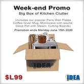 IDEA - Promo - Big Box of Kitchen Clutter