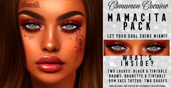 [Cinnamon Cocaine] Mamacita Lashes / Brows/ Tat Pack