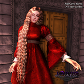 MORBID MAUSOLEUM Fleur Medieval Gown - Scarlet- Full Coverage No body needed