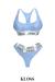[Lounge] Sportsbra & Underwear Set Blue ::Kloss::