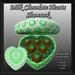 Box Of Milk Chocolate Hearts - Shamrock     tagStPatricksDay