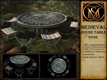 """Moon_Sha"" Medieval Round Table - Stone (Boxed)"