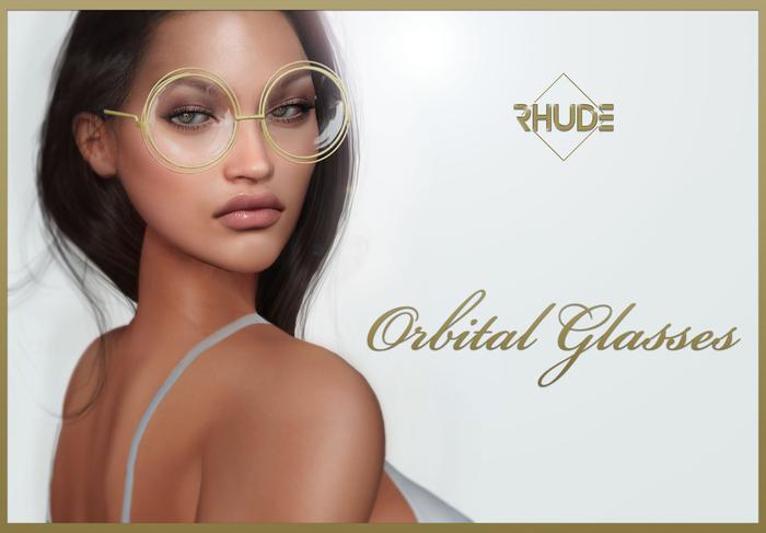 [RHUDE] Orbital Glasses Gold bag