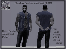 Sleevless Denim Jacket Vest DEMO (ADD ME)