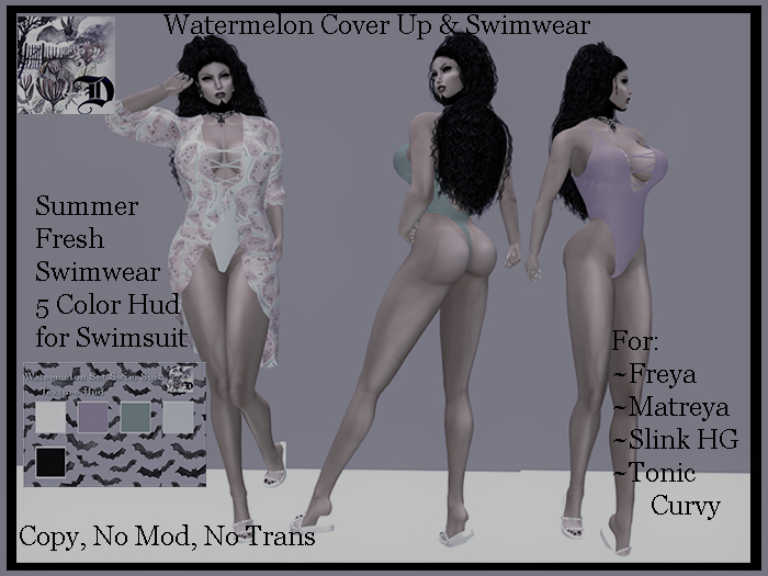 Watermelon Cover Up and Swimsuit Set DEMO (ADD ME)