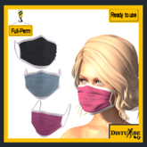 ::DisturbeD:: Coronavirus Face Mask Pack 3 - FULL PERM MESH