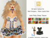[LS] TEXTURE (FAT) PACK JUNE PARTY DRESS - MA - RIBBON LAYERED