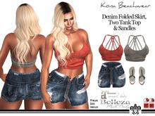 Kona Demin Folded Skirt Outfit
