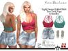 Kona Light Denim Folded Skirt Ourfit