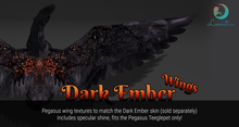 Lunistice: Dark Ember - Pegasus/Alicorn Teeglepet Wings
