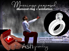 ASH Jewelry: Marriage proposal RING rigged+ ANIMATION