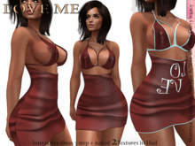*LoV*  Glam Minidress UNDRESS PETAL CRIMSON (Box Ad Wear)
